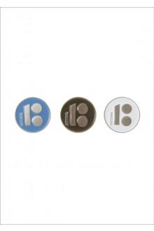 Magnetkinnitusega rinnamärgid, sinine, must ja valge, kirjaga ESTONIA