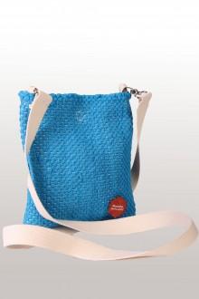 Laulupeo särkidest valmistatud sinine õlakott 18 x 21 cm
