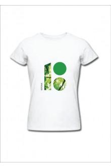 Naiste T-särk metsateemalise logoga