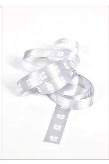 Hõbehall pakkepael valge logoga, 10 m