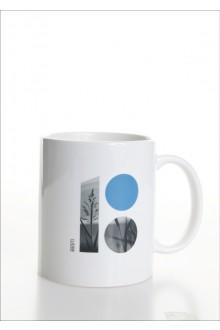 Keraamiline valge tass heinamaateemalise logoga, 10 tk