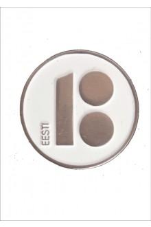 Magnetkinnitusega rinnamärgid, valged, 10 tk
