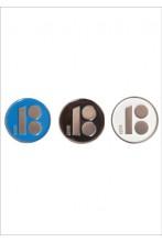 Magnetkinnitusega rinnamärgid, sinine, must ja valge