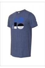EV100 logoga tumesinine t-särk meestele