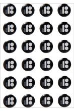 Mustad kristallkleebised, 10 tk
