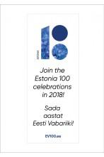 Keritav stend, eesti- ja ingliskeelne, 80 x 200 cm