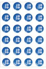 Sinised kristallkleebised, 10 tk
