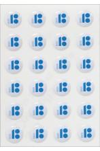 Valged kristallkleebised, 10 tk