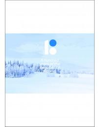 Talvise maastikuvaatega ingliskeelne fotosein, 300 x 200 cm