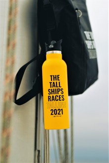 THE TALL SHIPS RACES 2021 yellow water bottle