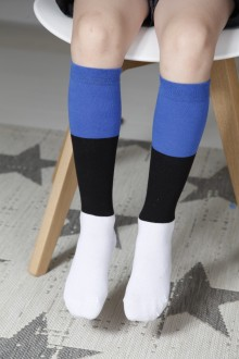 EESTI children's cotton knee-highs in the colours of the Estonian flag