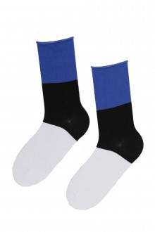 Cotton socks in the colours of the Estonian flag