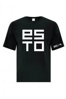 Cotton T-shirt ESTO, black