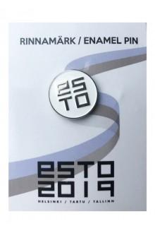 White pin badge ESTO