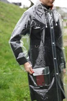 Transparent reusable raincoat