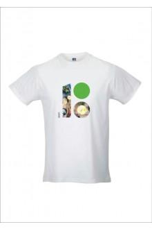 Men's T-shirt with the Estonia 100 food-themed logo