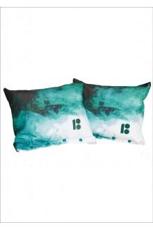 Decorative cushions, dark green, 2 pcs