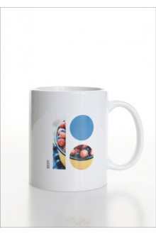 White ceramic mug with Estonia100 logo, 10 pcs