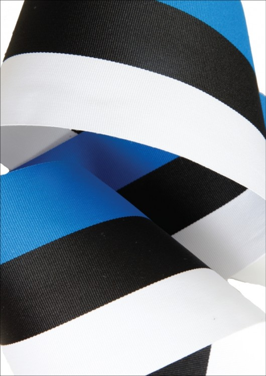 A Ribbon In The Colours Of National Flag Estonia Blue Black And