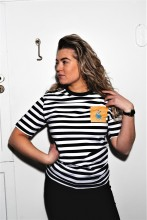 THE TALL SHIPS RACES 2021 striped shirt with a yellow pocket