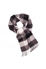 Great Natural Alpaca black checked alpaca wool scarf