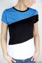 Women's T-shirt in the colours of the Estonian flag