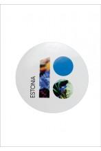 Estonia100 white stickers with cornflowers, 5 pcs