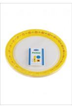 Smile Paper plates 22cm, yellow