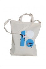 Shopping bag with a picture of swallows