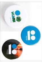 Steel button badges, 10 pcs