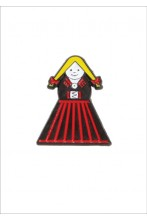 "Button badge ""Mulgi woman"""