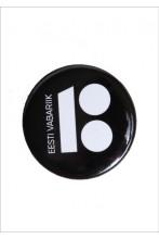 Steel button badge, black colour, 50 pcs