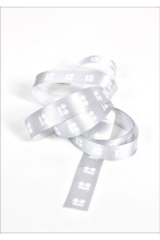 Packing band 10m, white logo on a grey background