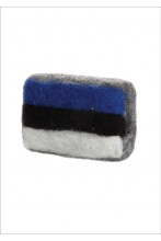 Estonia 100 felted soap with flag
