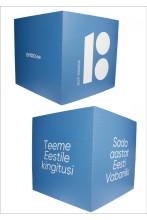 Cardboard cube, blue