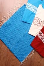 Blue rag rug made of Song Celebration T-shirts 45 x 52 cm