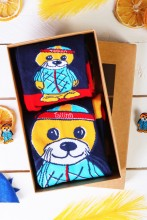 SEAL gift box with 2 pairs of socks