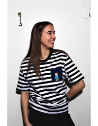 THE TALL SHIPS RACES 2021 stirped shirt with a blue pocker
