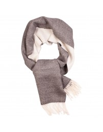 Great Natural Alpaca white-grey alpaca wool scarf