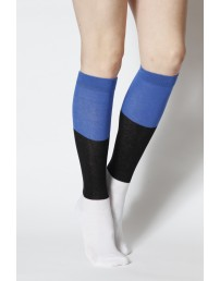 EESTI women's cotton knee-highs in the colours of the Estonian flag
