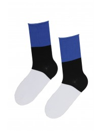 Cotton socks in the colours of the Estonian flag, 10 pairs