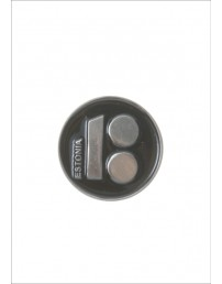 Button badge ESTONIA with magnetic fastener, black colour