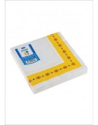 Smile Napkins 33x33cm 3-ply, Yellow