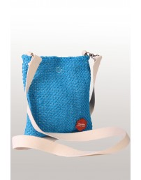 Blue shoulder bag made of Song Celebration T-shirts 18 x 21 cm