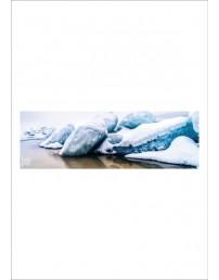"""Silk neck scarf """"Snow"""", 140x45 cm"""