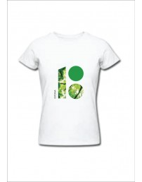 Women's T-shirt with the Estonia 100 forest-themed logo