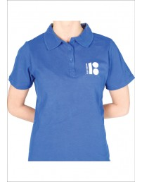 Estonia100 blue polo shirt for ladies