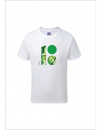 Children's T-shirt with a forest-themed logo