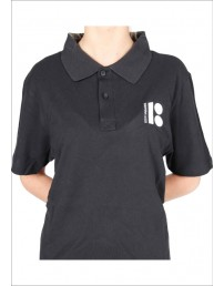 Estonia100 black polo shirt for ladies