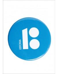 Steel button badges blue, 50 pcs
